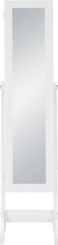 Álló Tükör Multistore - Fehér, Faalapú anyag/Üveg (34/144/37cm)