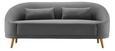 Sofa Jannike Dreisitzer inkl. Rückenkissen - Dunkelgrau, MODERN, Holz/Textil (207/84/80cm) - Modern Living