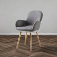 Stuhl Anne - Buchefarben/Hellgrau, MODERN, Holz/Textil (54/80/56cm) - Modern Living