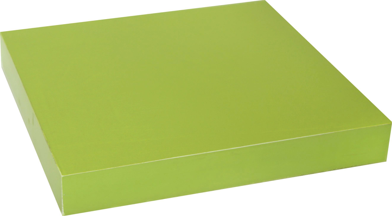 Falipolc Simple - zöld, modern, műanyag/faanyagok (23,5/3,8/23,5cm)