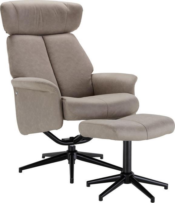 Relax-fotel Benni - Barna/Fekete, modern, Műanyag/Fém (76/97-109/76-107cm) - Modern Living