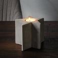 Teelichthalter Stern H ca. 10 cm - Hellgrau, MODERN, Stein (10,7/10/10,7cm)
