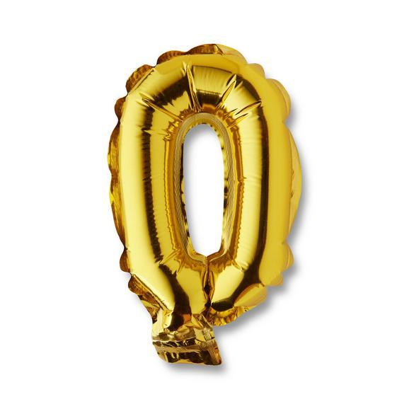 Luftballoon Numbers in Gold-/Silberfarben - Silberfarben/Goldfarben, Kunststoff (9/15cm) - Mömax modern living