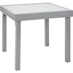 Gartentisch Franco in Silberfarben - Silberfarben, Glas/Kunststoff (90-180/75/90cm) - MÖMAX modern living