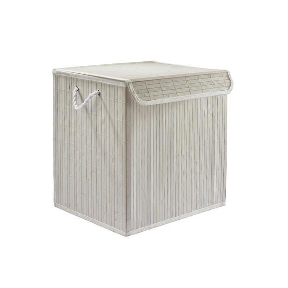 Koš Za Perilo Bamboo White - bela, les (41/32/42cm) - Mömax modern living