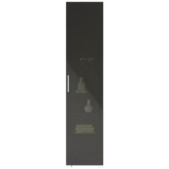 Vitrine in Lärchefarben - Chromfarben/Silberfarben, MODERN, Holzwerkstoff/Kunststoff (45/199/35cm) - Premium Living