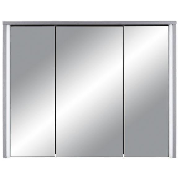 Spiegelschrank in Titanfarben - Titanfarben, MODERN, Glas/Holzwerkstoff (86/68/18cm)
