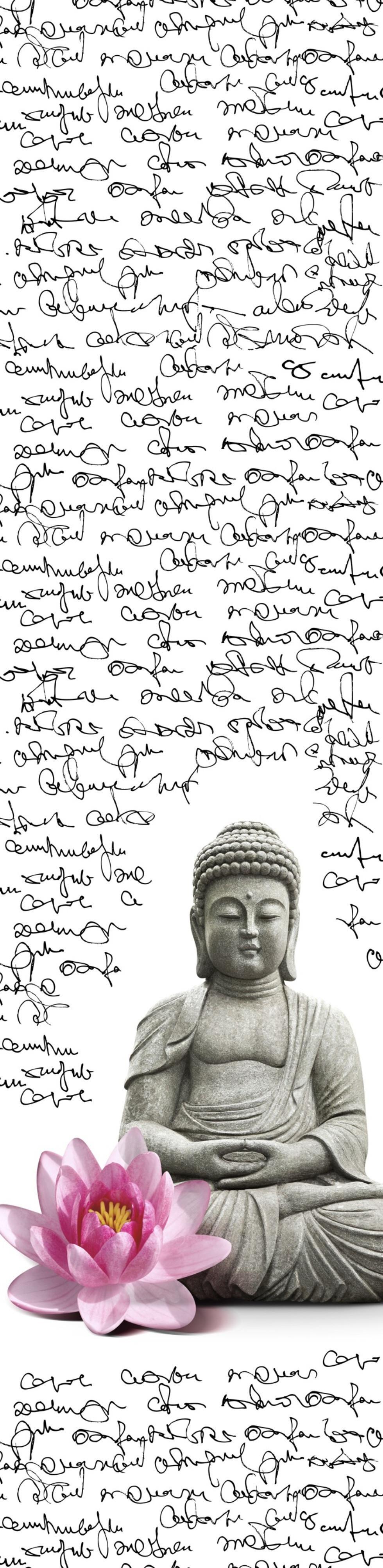 Lapfüggöny Buddha Mintával - fekete/rózsaszín, Lifestyle, textil (60/245cm) - MÖMAX modern living