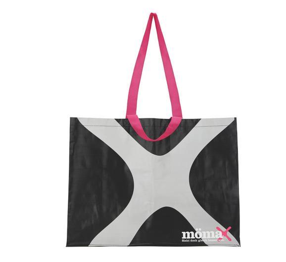 Einkaufstasche Mömax 4 You - Hellgrau/Schwarz, Kunststoff (53/40/22cm) - Mömax modern living