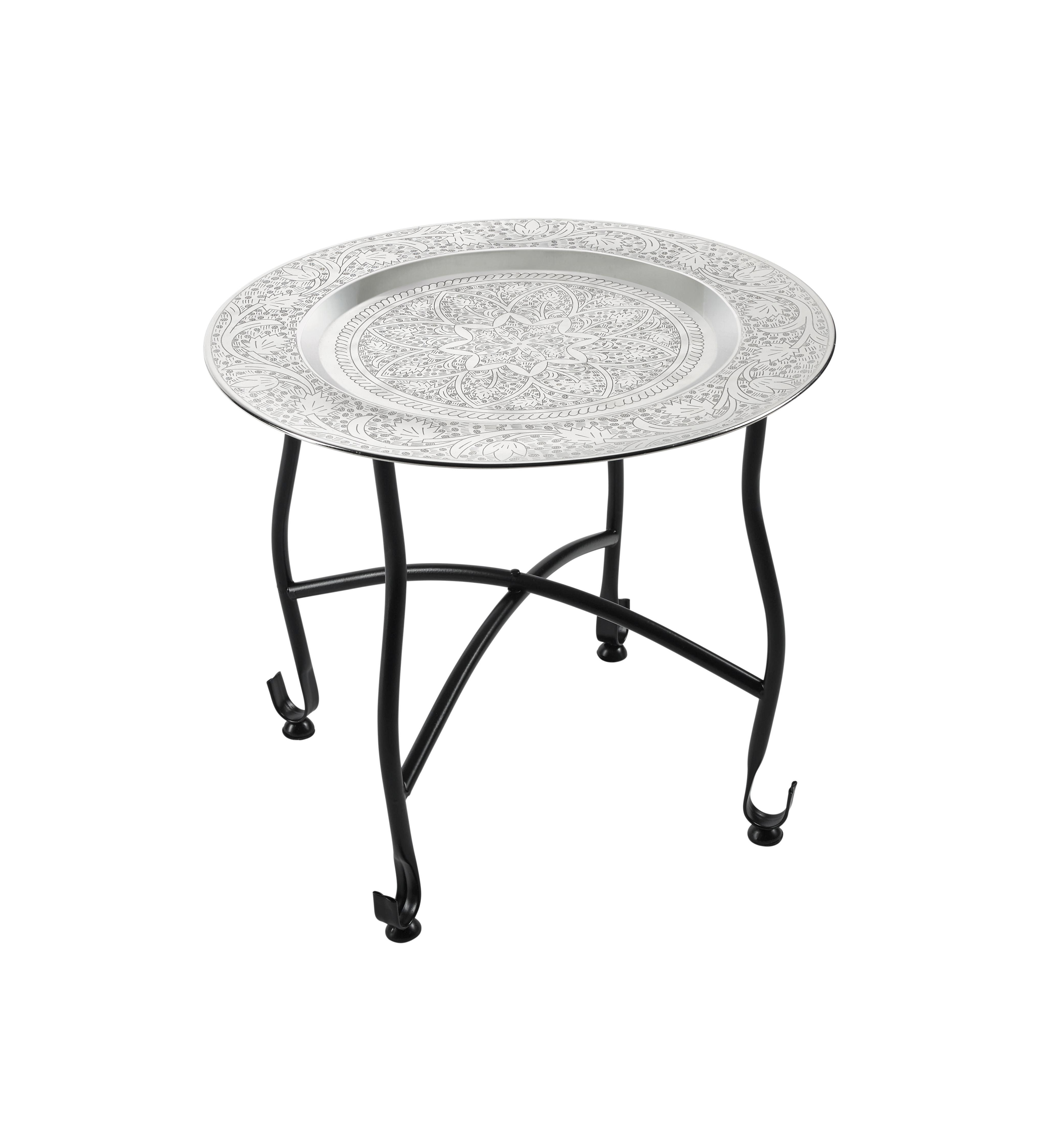 Gyertyatartó Tányér Sharma - ezüst színű, romantikus/Landhaus, fém (41/36cm) - MÖMAX modern living