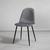 Stuhl Lio - Dunkelgrau/Schwarz, MODERN, Holz/Textil (43/86/55cm) - Modern Living