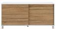 Sideboard Tanja - Eichefarben/Weiß, MODERN, Holz/Kunststoff (146/70/40cm) - Modern Living
