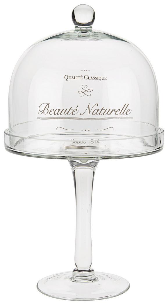 Süteményes Doboz Santine - tiszta, romantikus/Landhaus, üveg (20/37cm) - ZANDIARA