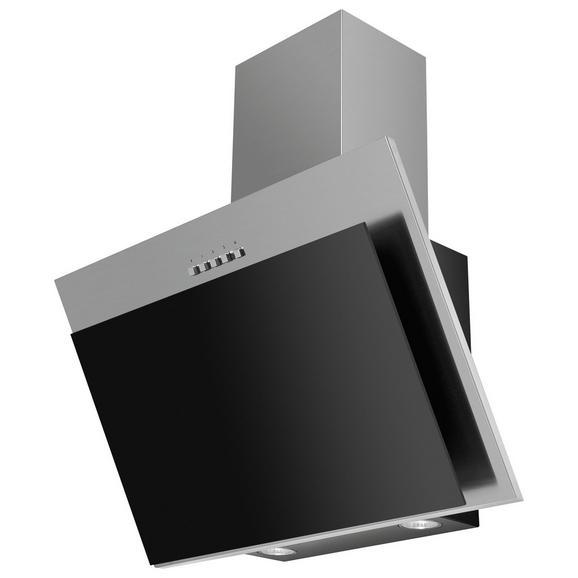 Dunstabzugshaube 60250 in Edelstahl/Schwarz - Edelstahlfarben/Schwarz, LIFESTYLE, Metall (60/95,5-133/31cm) - Mican