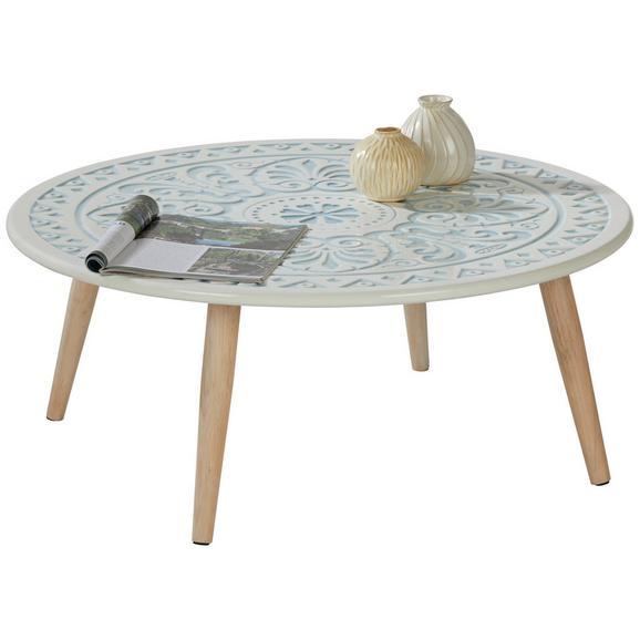 Măsuță De Cafea Amanda - alb/culoare natur, Romantik / Landhaus, compozit lemnos/lemn (80/33/80cm) - Modern Living