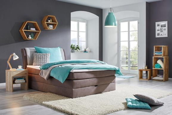 Oblazinjena Postelja Amalfi - siva/svetlo siva, Konvencionalno, tekstil (126/109/227cm) - Premium Living