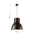 Hängeleuchte max. 60 Watt 'Victor' - Braun/Weiß, MODERN, Metall (47/47/120cm) - Bessagi Home
