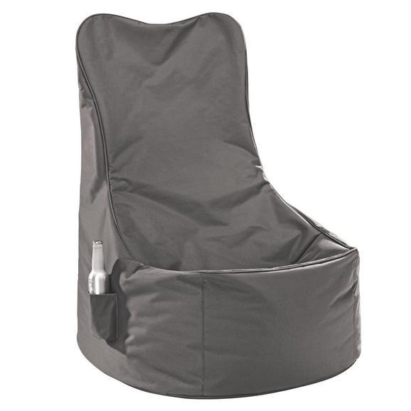 Sitzsack Schlamm/Nylon - Textil (60/100/60cm) - Modern Living