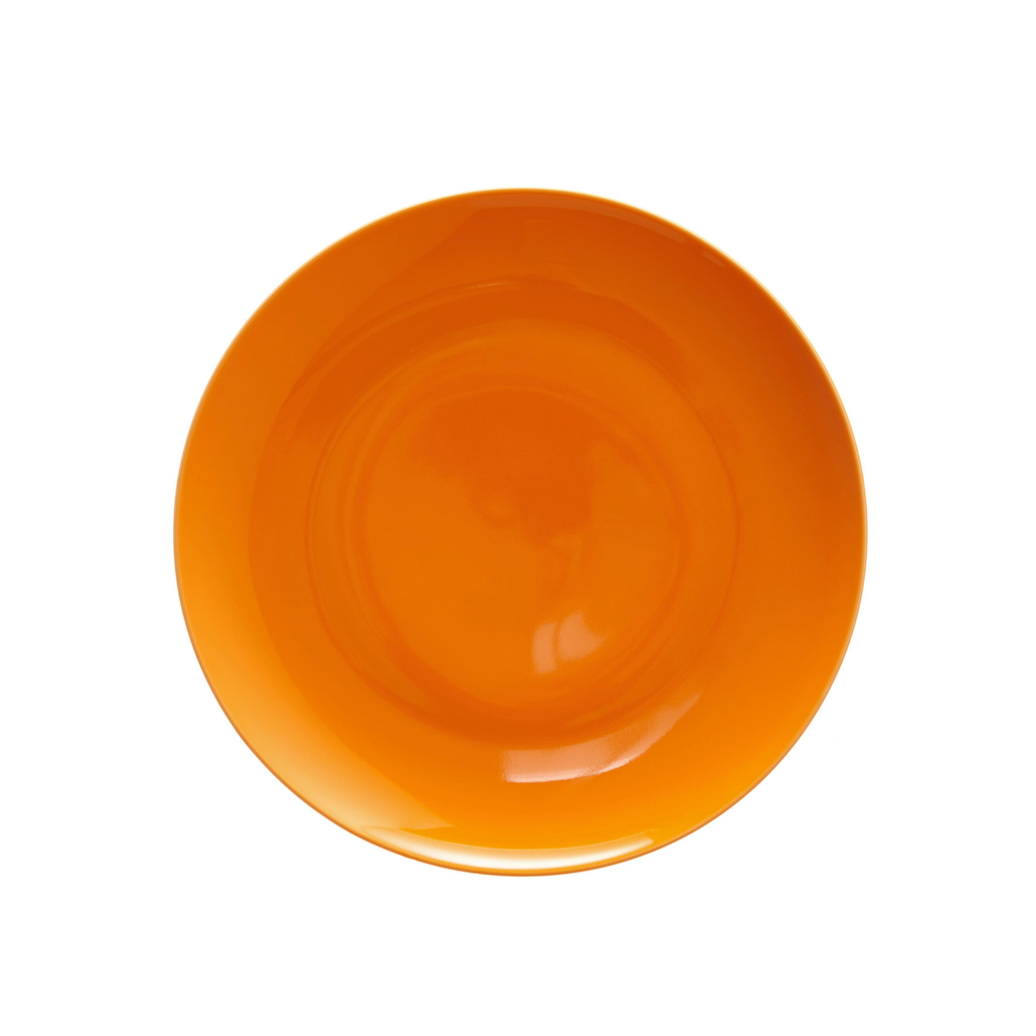 Dessertteller Sandy in Orange aus Keramik - Orange, KONVENTIONELL, Keramik (20,4/1,8cm) - MÖMAX modern living