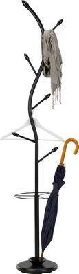 Samostoječ Obešalnik Ela - črna, Moderno, kovina/les (28/180/28cm) - Mömax modern living