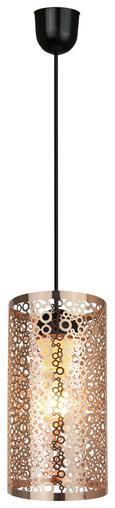 Viseča Svetilka Rosa - črna/baker, Trendi, kovina (25/13/130cm) - Mömax modern living