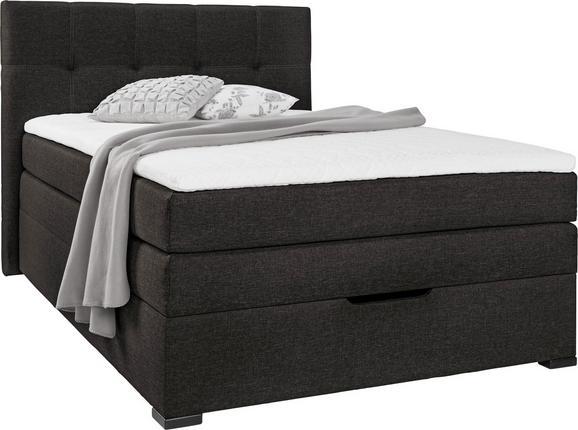 Postelja Boxspring Amelia - wenge/črna, Trendi, tekstil/leseni material (210/132/121cm) - Premium Living