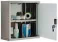 Medizinschrank Edelstahlfarben - Edelstahlfarben, Glas/Metall (30/30/12cm) - Mömax modern living