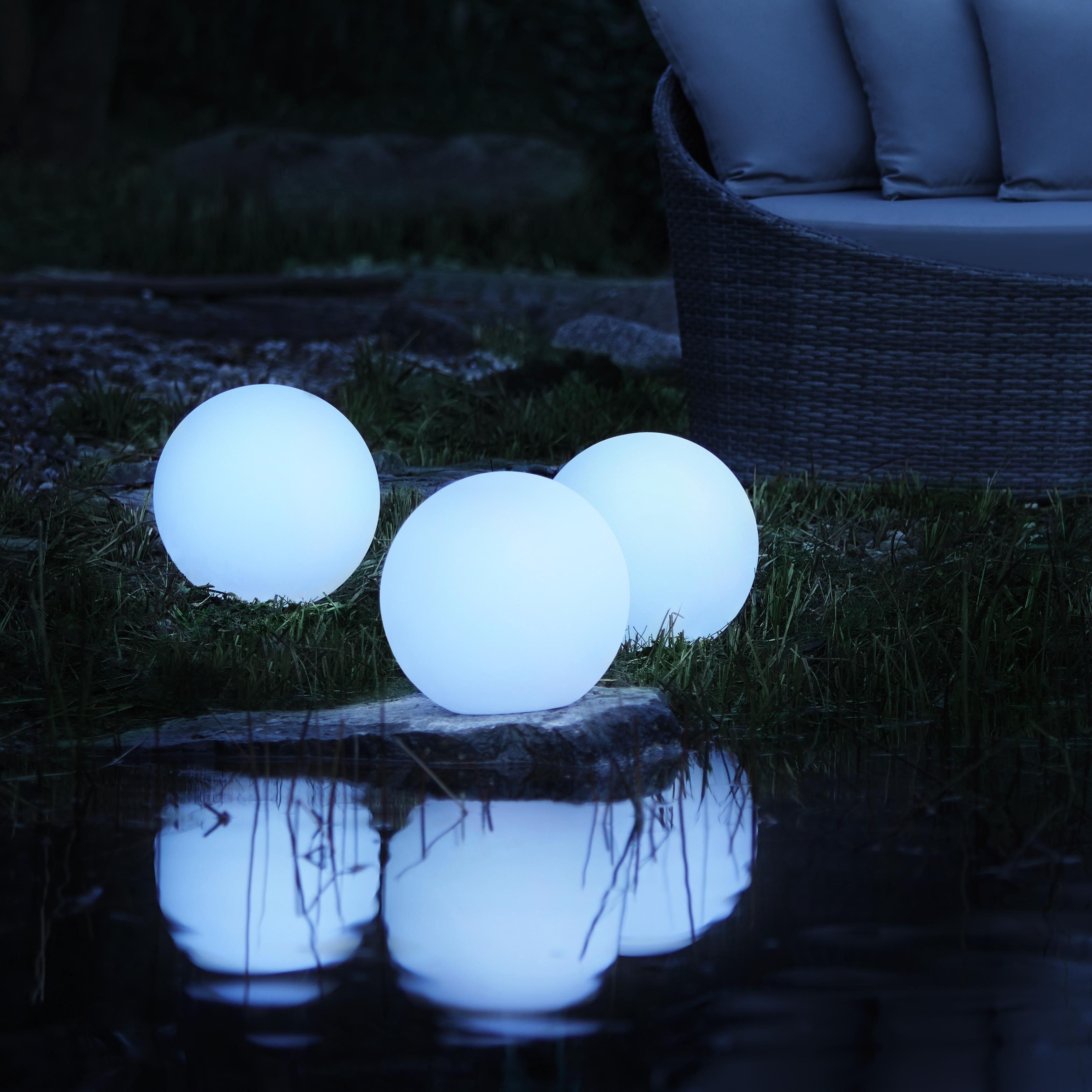 Gartenleuchte Led Solar Ben Ø ca. 30 cm - Weiß, MODERN, Kunststoff (30/30cm) - Modern Living